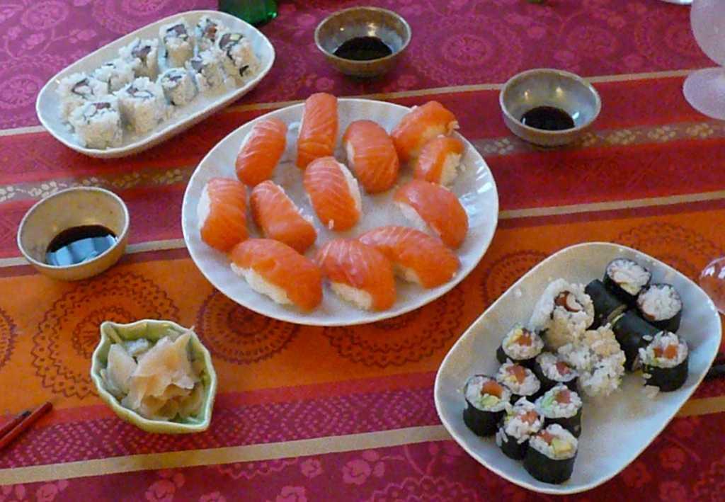 Notre premier essai à la réalisation de sushi et de maki